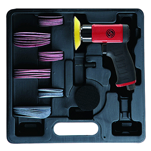 "Chicago Pneumatic CP7200S - 2"" 3"" Air Mini Pistol Random Orbital Sander Kit"
