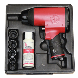 "Chicago Pneumatic CP749K - 1/2"" Air Impact Wrench Imperial Kit"