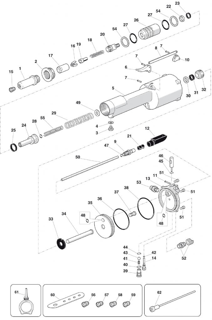 FAR RAC230 Spares Diagram Mettex Air Tools
