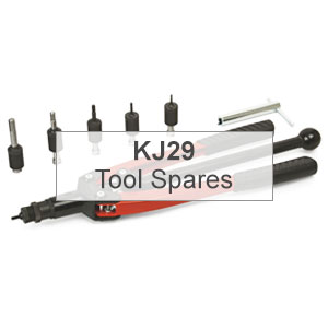 Mettex Air Tools KJ29 Riveting Tools for Threaded Inserts Spares