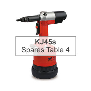 Mettex Air Tools FAR KJ45s Spares Table 4