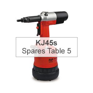 Mettex Air Tools FAR KJ45s Spares Table 5