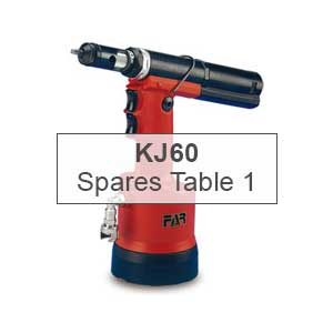 Mettex Air Tools FAR KJ60 Spares Table 1