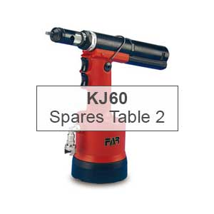 Mettex Air Tools FAR KJ60 Spares Table 2